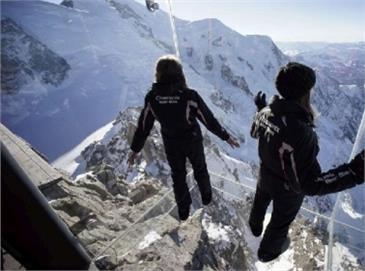 Un Passo Nel Vuoto Sul Monte Bianco Dalla Terrazza