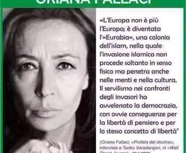 Risultati immagini per oriana fallaci eurabia