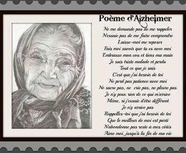 Poème Dalzheimer Auteur Inconnu De Moi Toluna