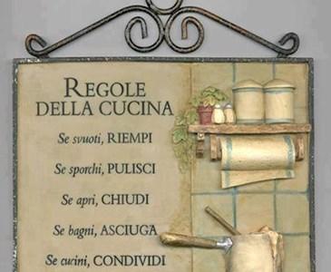 Regole della cucina se svuoti riempi se sporchi for I cucina niente regole
