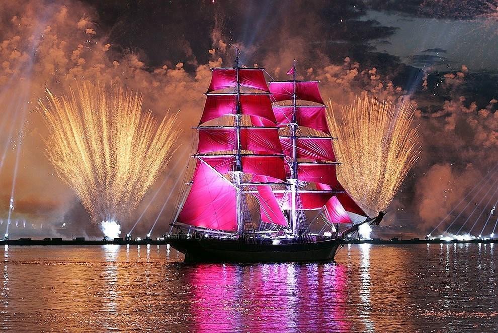 Санкт-Петербург корабль закат  № 3944974 загрузить