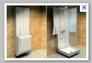 la cabine de douche pliante invent e par yves supiot cette cabine de douche poss de un. Black Bedroom Furniture Sets. Home Design Ideas