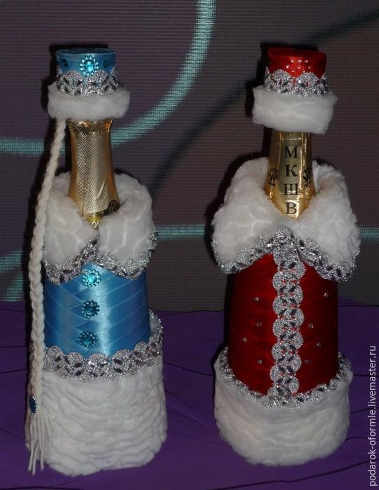 Украшение шампанского на новый год мастер класс