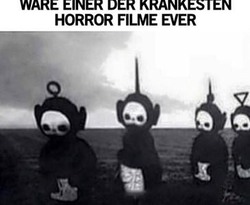 Teletubbies In Schwarz Wei Wäre Einer Der Krankesten Horrorfilme