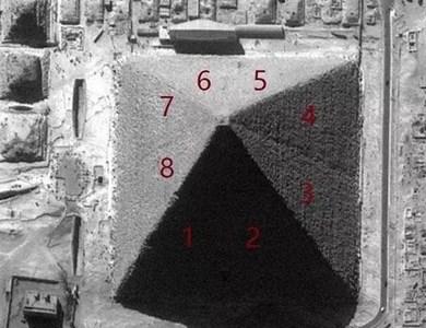 金字塔其实是8个面!