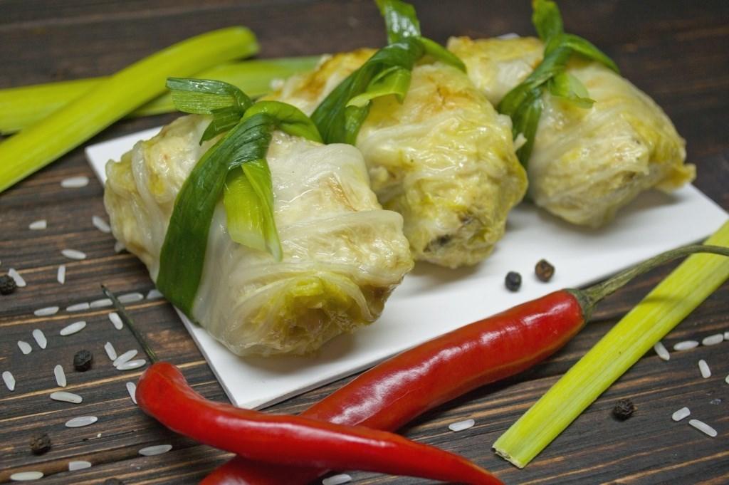 Голубцы овощные из пекинской капусты рецепт с пошагово