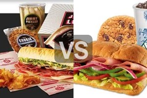subway vs jimmy johns Jimmy johns for these reasons 1) there spokespersons were never convicted of weird stuff with kids 2) subway makes a big deal about putting less food into their sandwiches and calling them low calorie/low fat 3) jimmie johns sells actual deli quality pickles on the side.