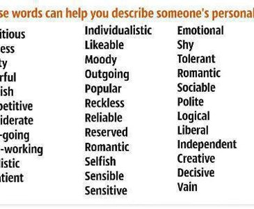 how would you describe your personality what kind of person are you