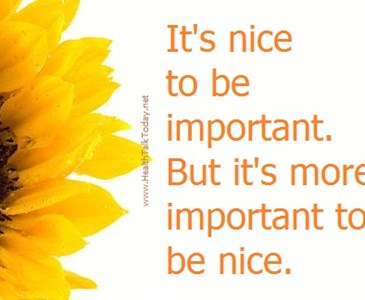 its nice to be important