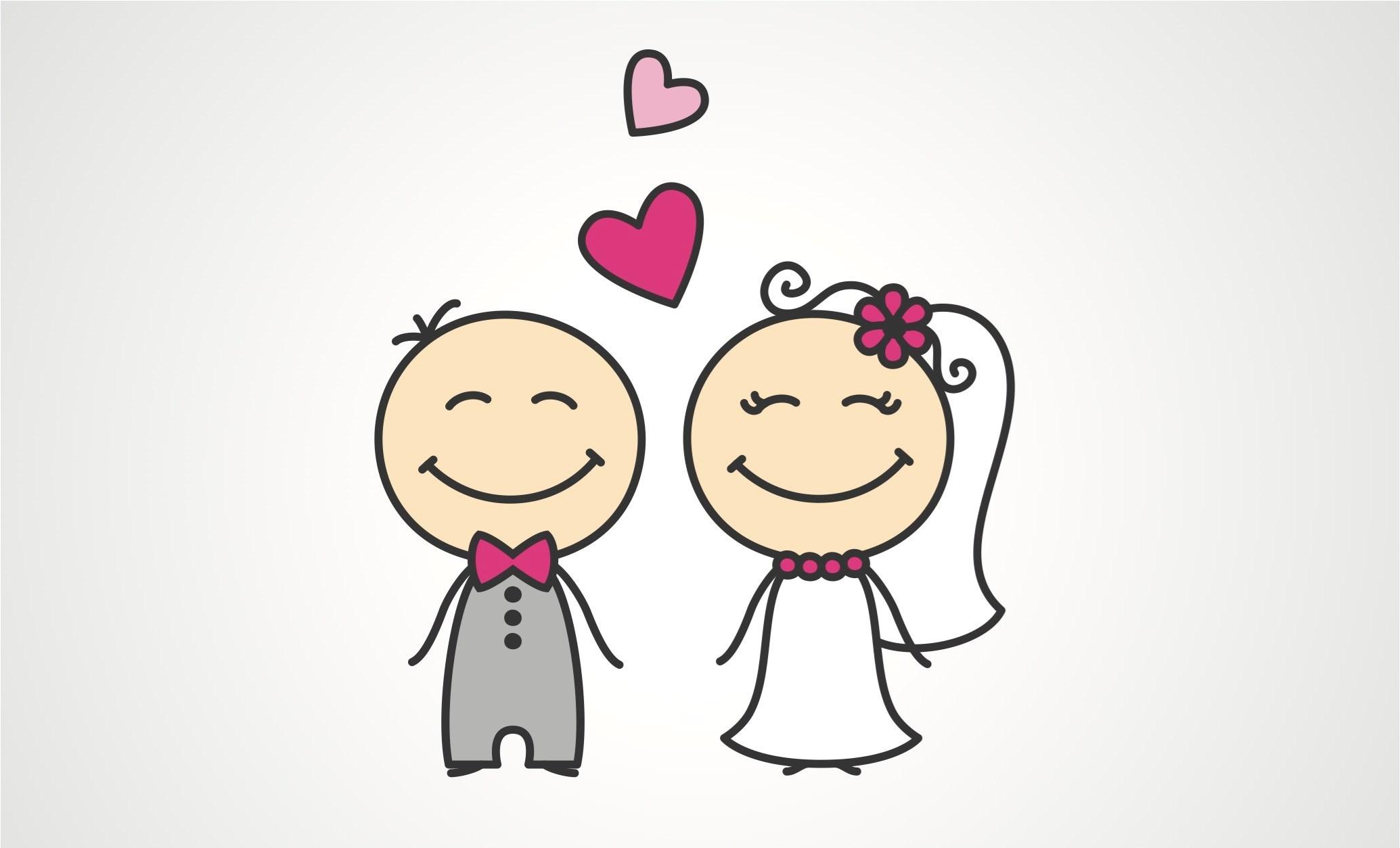 Милой, мультяшные картинки на свадьбу смешные