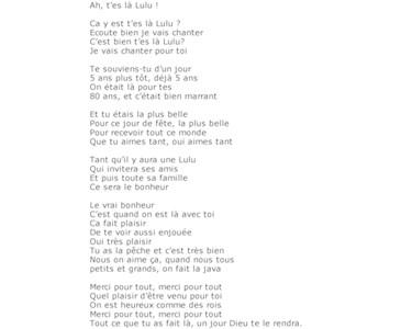 parodie chanson toi + moi pour anniversaire