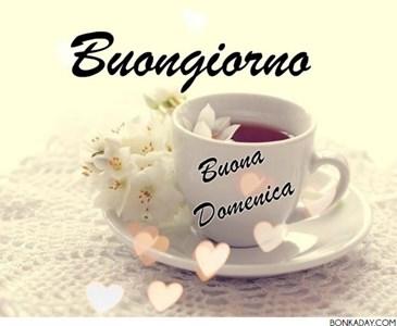 Buon Giorno E Buona Domenica Il Caffe E Pronto Buona Giornata