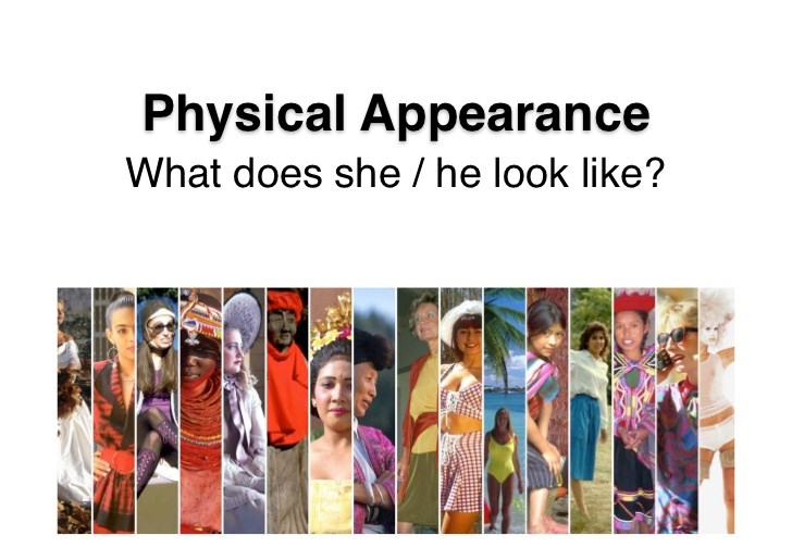 human physical appearance and beauty My experience of beauty is to be judged more harshly the expectation that i am perfection in all ways not merely physical appearance, and this has led to much angst esp in relationships.