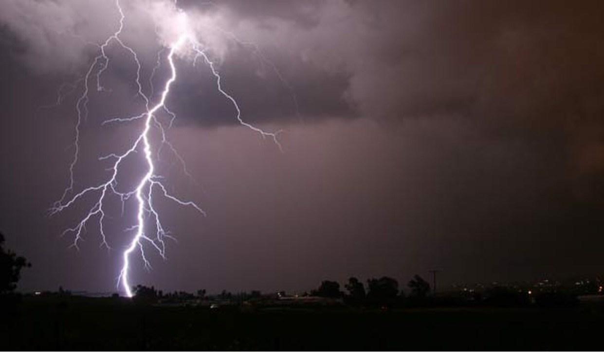 Animated thunderstorm and lightning
