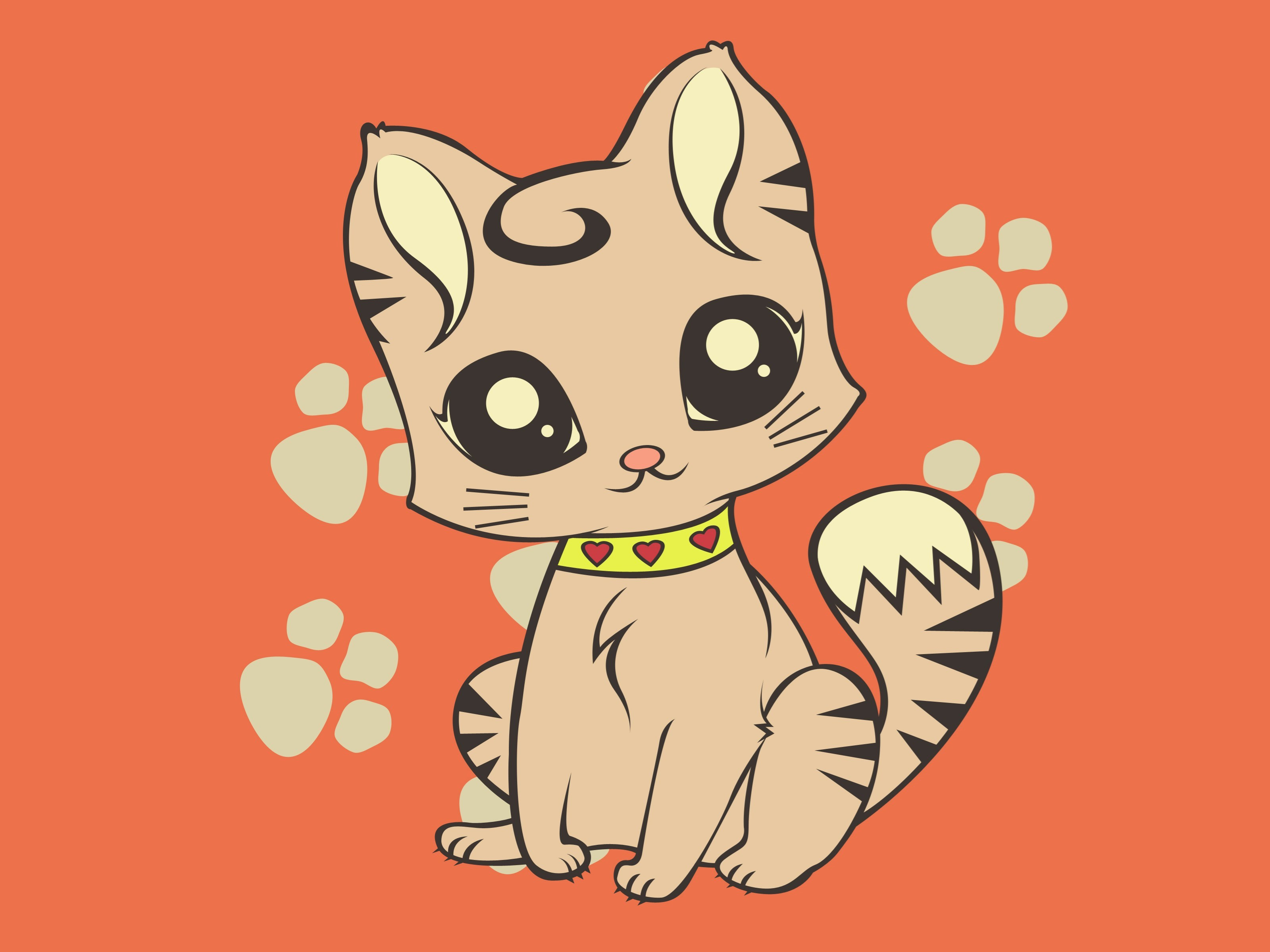 how to draw a cute cartoon cat wikihow - HD 3200×2400