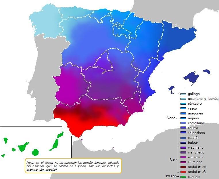 Dialectos De España Mapa.Cual Es Tu Dialecto Del Espanol Toluna