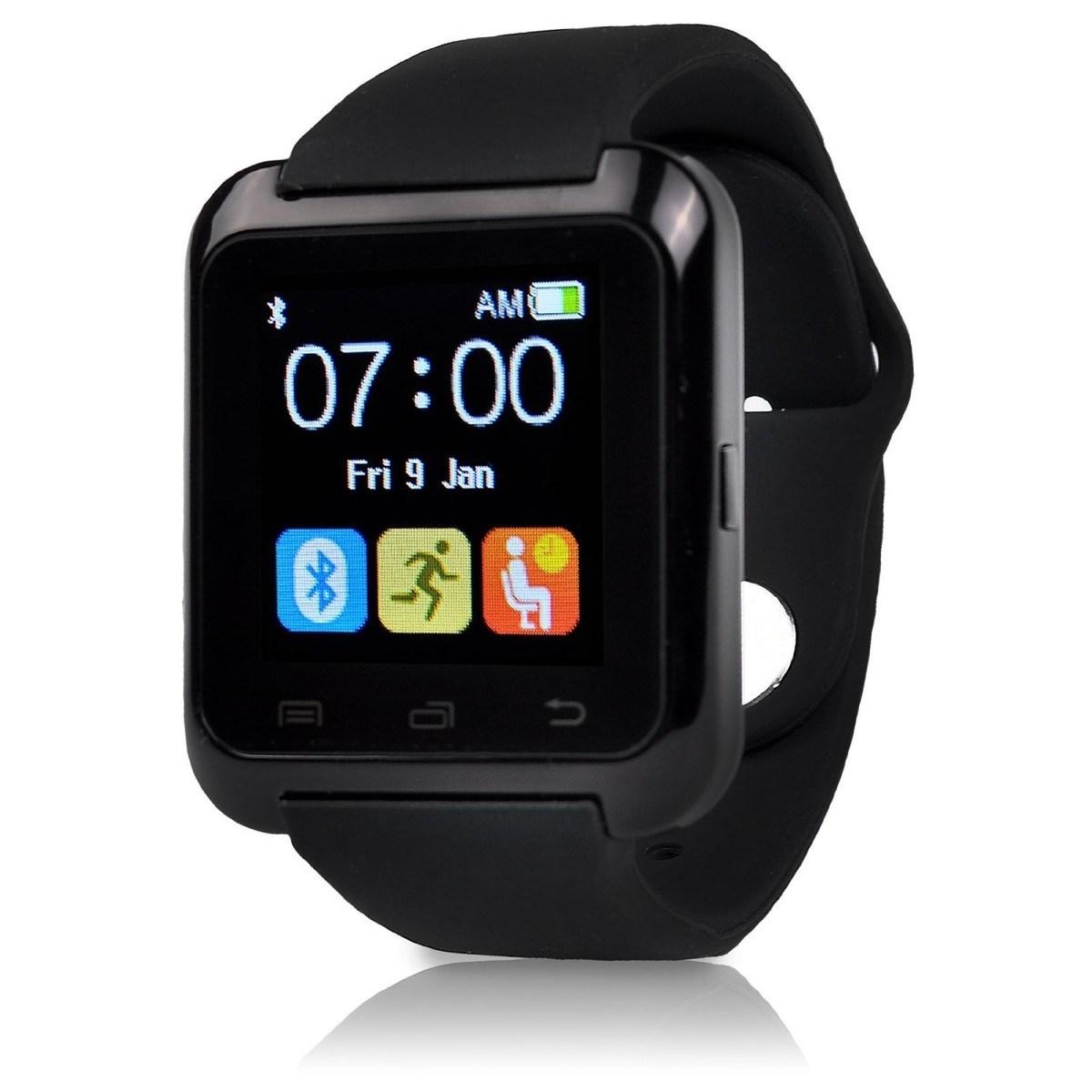 По сути, эти smart-часы представляют собой фитнес-браслет, но с крупным и информативным экраном и съёмным перфорированным ремешком.