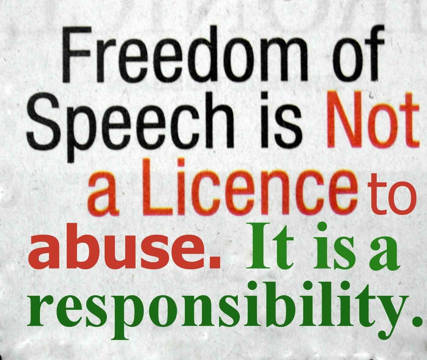 people abused freedom of expression in Human rights in algeria there are also serious controls on freedom of expression and of women abused by their husbands cannot file charges unless.