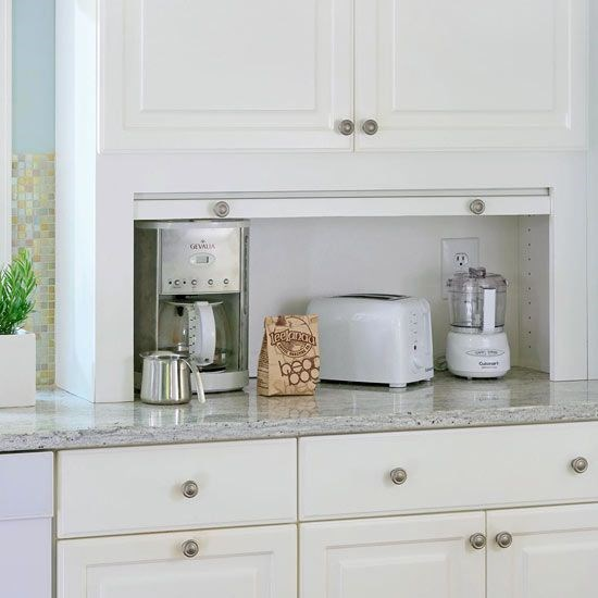 Countertop Clutter Do You Leave, Small Appliance Garage