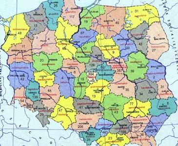 Mapa Polski W 2018 Roku Ulegnie Zmianie Przybedzie 8 Miast A