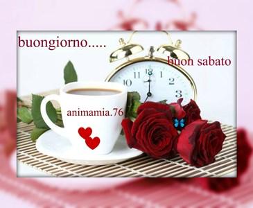 Buon Giorno E Buon Sabato Amici Con Un Caffe E Dolcini