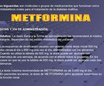 metformina 850 dosis para adelgazar