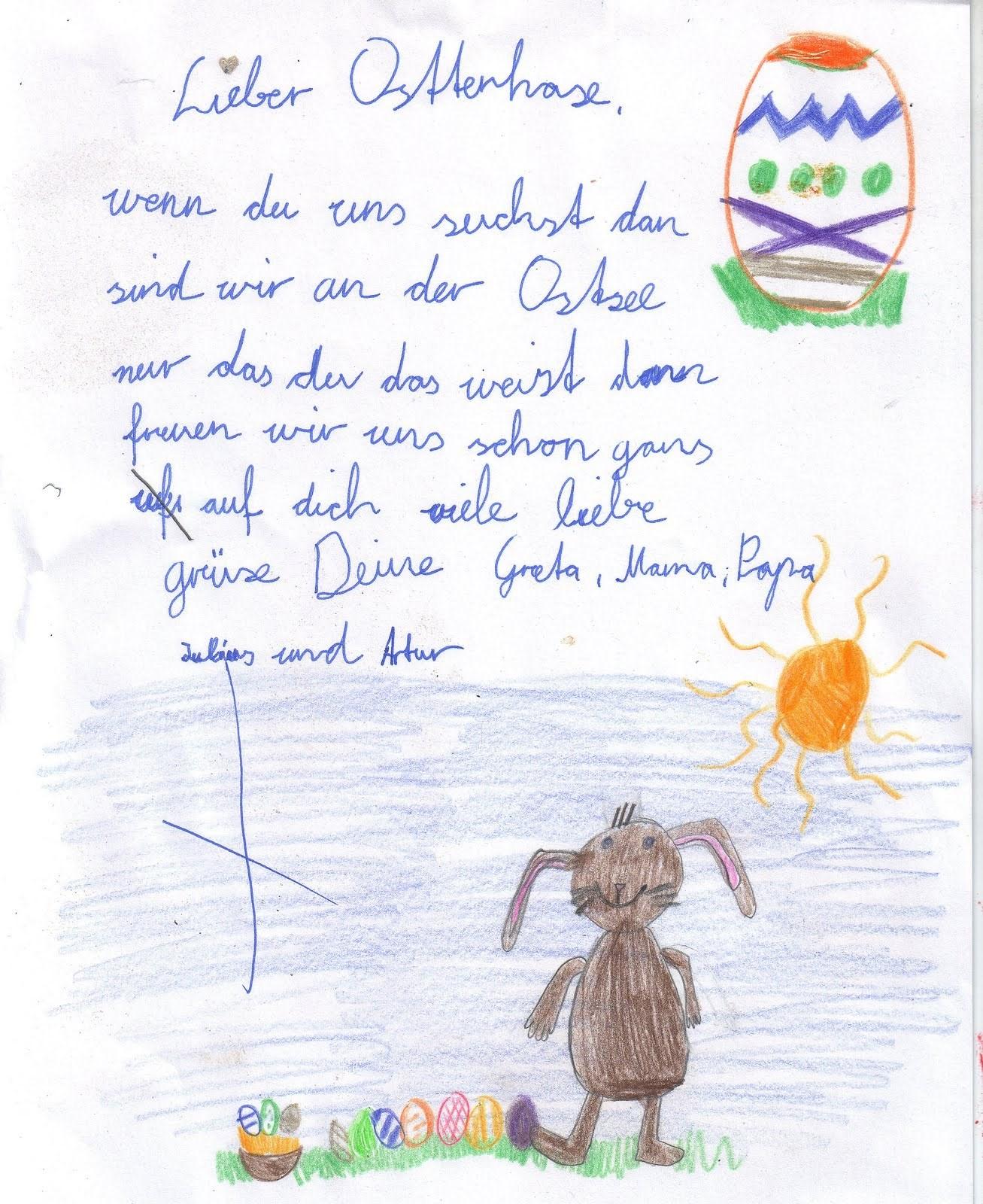 Brief an den Osterhasen | Toluna