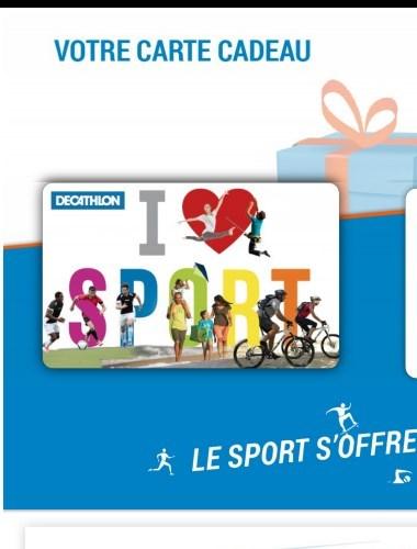 Merci Toluna Cest Mon Deuxieme Carte De Cadeau Decathlon Montant