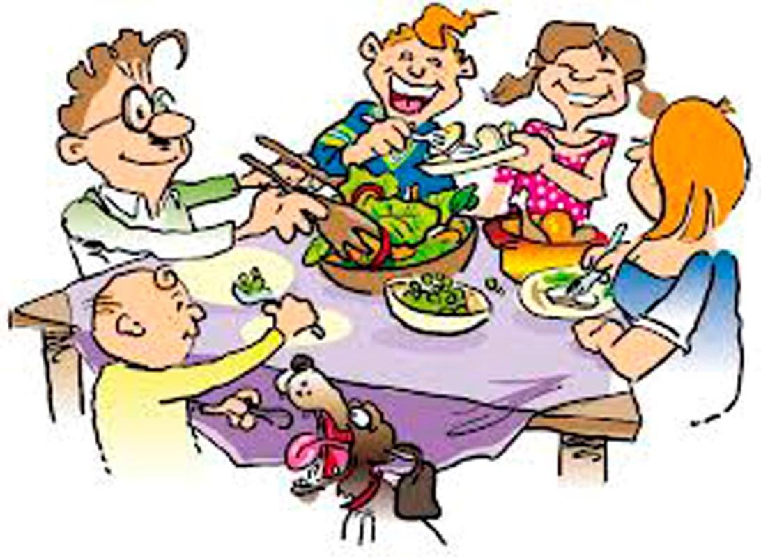 family eating clip art - 712×524