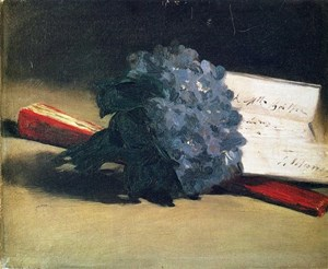 Mazzo Di Fiori Su Una Sedia Renoir.Fiori Per La Buonanotte A Bouquet Of Violets Berthe