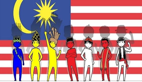Perpaduan Kaum Gambar Kartun Pelbagai Kaum Di Malaysia