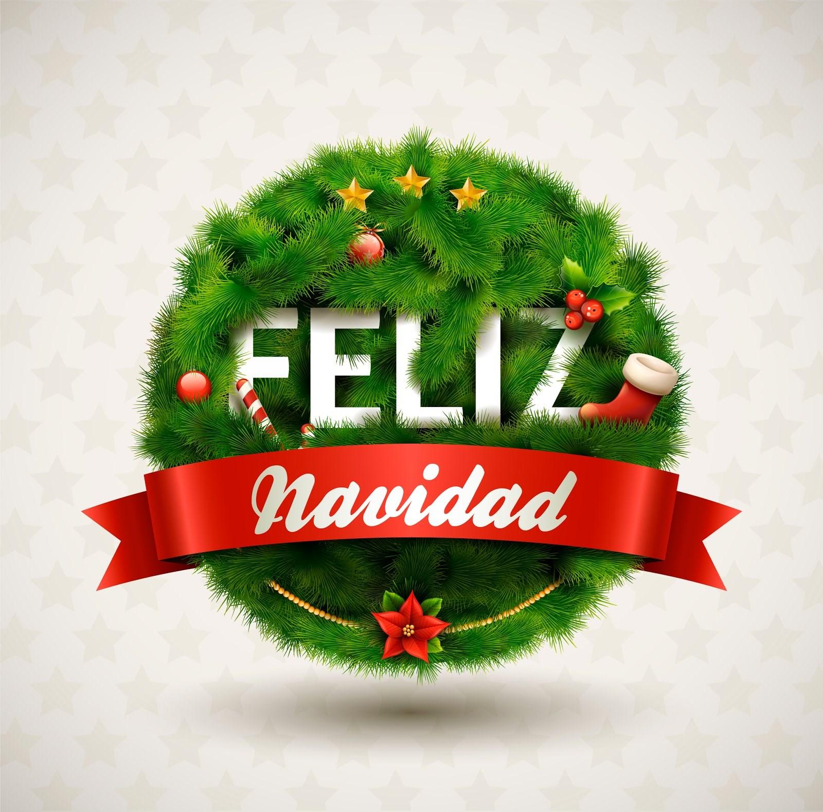 Фон для, открытка на испанском с рождеством